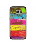 Coque Bois Coloré Vintage pour Samsung Galaxy S7 Edge - Maximilian San