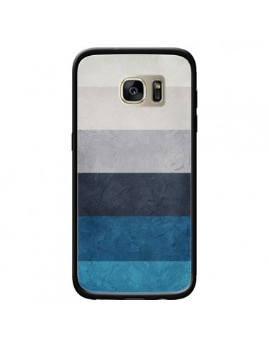 Coque Bandes Horizontales Greece Hues pour Samsung Galaxy S7 Edge - Maximilian San