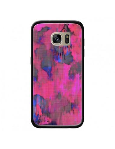 Coque Fleurs Rose Lysergic Pink pour Samsung Galaxy S7 Edge - Maximilian San