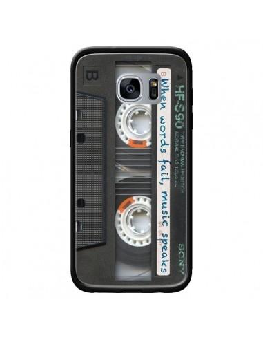 Coque Cassette Words K7 pour Samsung Galaxy S7 - Maximilian San