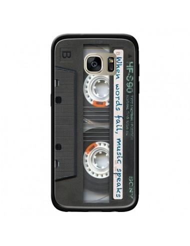 Coque Cassette Words K7 pour Samsung Galaxy S7 Edge - Maximilian San