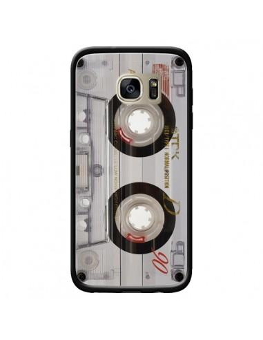 Coque Cassette Transparente K7 pour Samsung Galaxy S7 Edge - Maximilian San