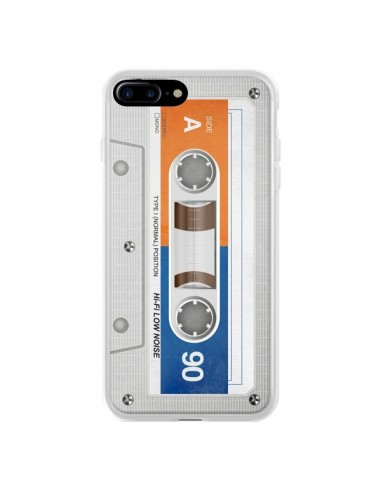 Coque iPhone 7 Plus et 8 Plus White Cassette K7 - Maximilian San