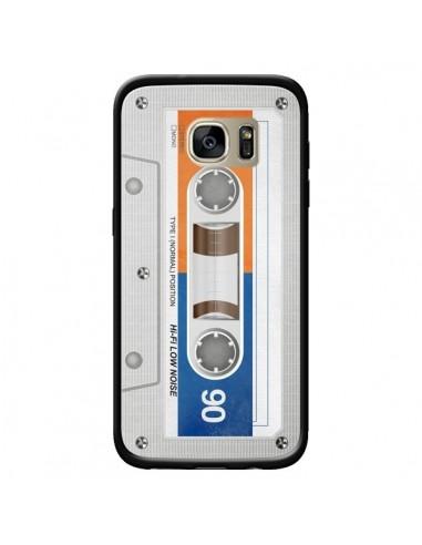 Coque White Cassette K7 pour Samsung Galaxy S7 Edge - Maximilian San