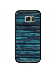 Coque Blue Moon Wood Bois pour Samsung Galaxy S7 Edge - Maximilian San