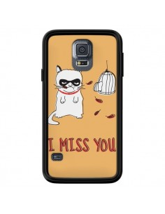 Coque Chat I Miss You pour Samsung Galaxy S5 - Maximilian San