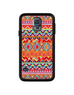 Coque India Style Pattern Bois Azteque pour Samsung Galaxy S5 - Maximilian San