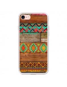 Coque iPhone 7/8 et SE 2020 Indian Wood Bois Azteque - Maximilian San