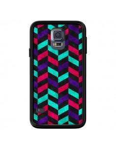 Coque Azteque Geometric Mundo pour Samsung Galaxy S5 - Maximilian San