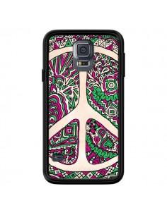 Coque Peace and Love Azteque Vainilla pour Samsung Galaxy S5 - Maximilian San