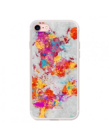 Coque iPhone 7/8 et SE 2020 Terre Map...