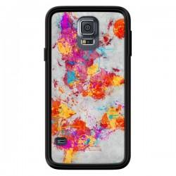 Coque Terre Map Monde Mother Earth Crying pour Samsung Galaxy S5 - Maximilian San