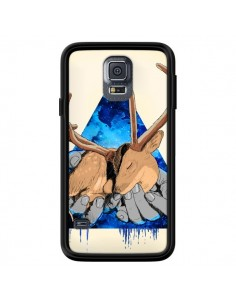 Coque Cerf Triangle Seconde Chance pour Samsung Galaxy S5 - Maximilian San
