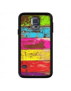 Coque Bois Coloré Vintage pour Samsung Galaxy S5 - Maximilian San