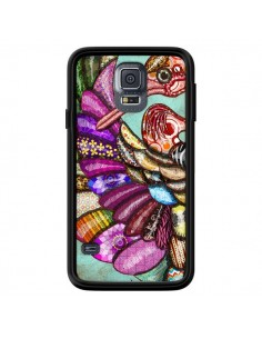 Coque Paon Multicolore Eco Bird pour Samsung Galaxy S5 - Maximilian San