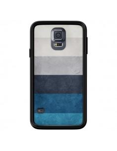 Coque Bandes Horizontales Greece Hues pour Samsung Galaxy S5 - Maximilian San