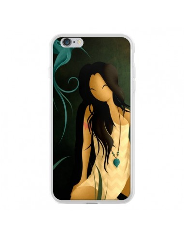 Coque iPhone 6 Plus et 6S Plus Femme Indienne Pocahontas - LouJah