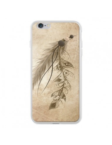 Coque iPhone 6 Plus et 6S Plus Bohemian Feather Plume Attrape Reves - LouJah