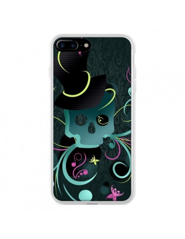Coque iPhone 7 Plus et 8 Plus Tête de Mort Papillon Skull - LouJah