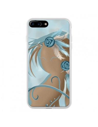 Coque iPhone 7 Plus et 8 Plus Femme Plume Zoey Woman Feather - LouJah