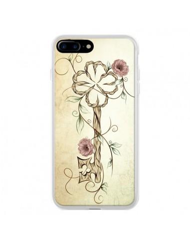 Coque Key Lucky Clef Flower pour iPhone 7 Plus et 8 Plus - LouJah