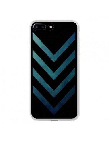 Coque iPhone 7 Plus et 8 Plus Blue Black Arrow Fleche - LouJah