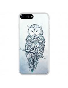 Coque iPhone 7 Plus et 8 Plus Snow Owl Chouette Hibou Neige - LouJah