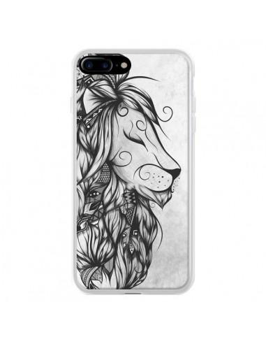 Coque Poetic Lion Noir Blanc pour iPhone 7 Plus et 8 Plus - LouJah