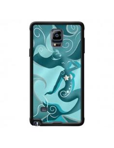 Coque La Petite Sirene Blue Mermaid pour Samsung Galaxy Note 4 - LouJah