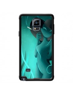 Coque Femme Enora Blue Smoke pour Samsung Galaxy Note 4 - LouJah