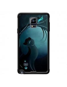 Coque Chat Clair de Lune Moonlight pour Samsung Galaxy Note 4 - LouJah