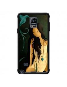 Coque Femme Indienne Pocahontas pour Samsung Galaxy Note 4 - LouJah