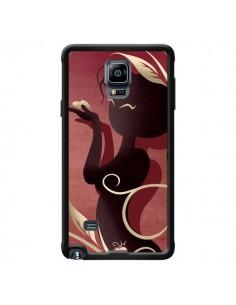Coque Femme Asiatique Love Coeur pour Samsung Galaxy Note 4 - LouJah