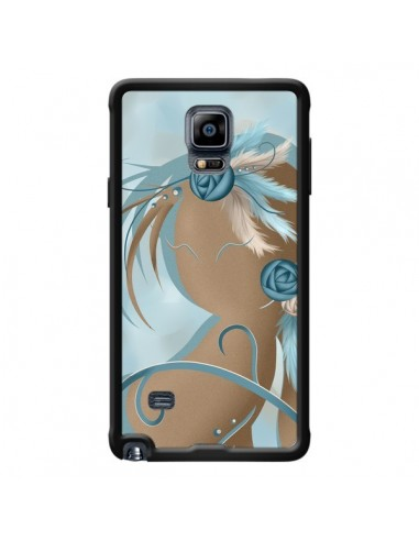 Coque Femme Plume Zoey Woman Feather pour Samsung Galaxy Note 4 - LouJah
