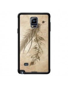 Coque Bohemian Feather Plume Attrape Reves pour Samsung Galaxy Note 4 - LouJah