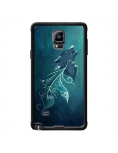 Coque Wolfeather Plume Loup pour Samsung Galaxy Note 4 - LouJah
