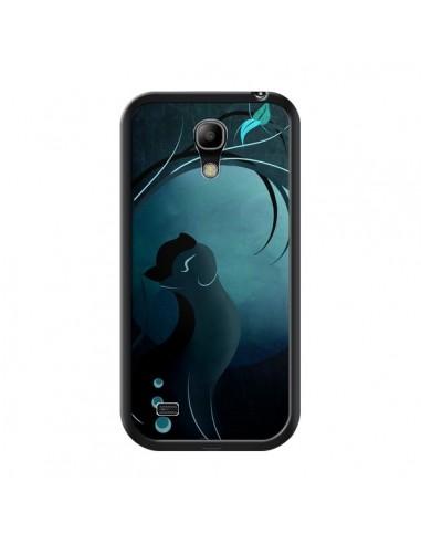 Coque Chat Clair de Lune Moonlight pour Samsung Galaxy S4 Mini - LouJah