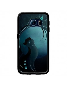 Coque Chat Clair de Lune Moonlight pour Samsung Galaxy S6 Edge - LouJah