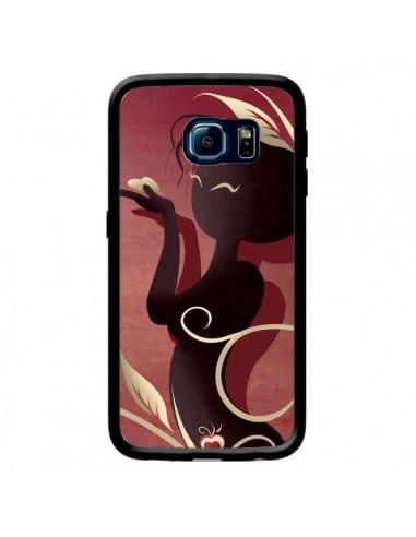 Coque Femme Asiatique Love Coeur pour Samsung Galaxy S6 Edge - LouJah
