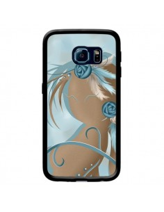 Coque Femme Plume Zoey Woman Feather pour Samsung Galaxy S6 Edge - LouJah