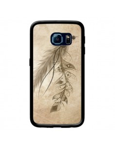 Coque Bohemian Feather Plume Attrape Reves pour Samsung Galaxy S6 Edge - LouJah