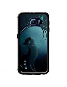 Coque Chat Clair de Lune Moonlight pour Samsung Galaxy S6 - LouJah
