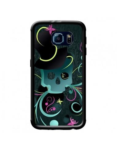 Coque Tête de Mort Papillon Skull pour Samsung Galaxy S6 - LouJah