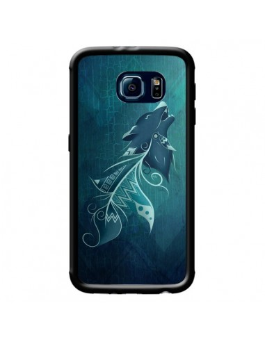 Coque Wolfeather Plume Loup pour Samsung Galaxy S6 - LouJah