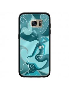 Coque La Petite Sirene Blue Mermaid pour Samsung Galaxy S7 Edge - LouJah