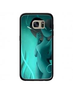 Coque Femme Enora Blue Smoke pour Samsung Galaxy S7 Edge - LouJah