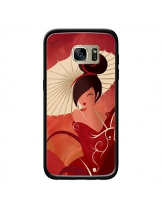 Coque Sakura Asian Geisha pour Samsung Galaxy S7 Edge - LouJah