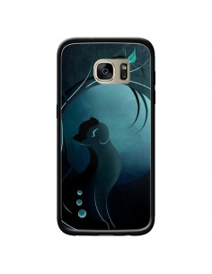 Coque Chat Clair de Lune Moonlight pour Samsung Galaxy S7 Edge - LouJah