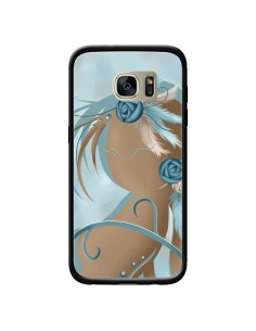 Coque Femme Plume Zoey Woman Feather pour Samsung Galaxy S7 Edge - LouJah