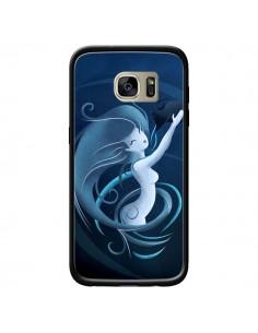 Coque Aquarius Girl La Petite Sirene pour Samsung Galaxy S7 Edge - LouJah